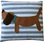 Cute dog cushions from Oromono! You can buy matching playmats, floor cushions and even slippers at Mimimyne