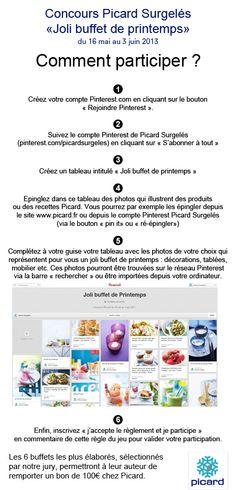 """#Concours #Picard - Pour participer, créez sur Pinterest le plus """"Joli buffet de Printemps"""" avec des photos de produits Picard et des photos d'ambiance de votre choix ! Il y a 6 bons d'achat Picard d'une valeur de 100€ à gagner. Le règlement est disponible ici : https://www.facebook.com/picardsurgeles/app_249605948390196 N'oubliez pas d'inscrire """"j'accepte de règlement et je participe"""" en commentaire de cette règle du jeu pour valider votre participation."""