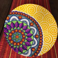 Madhubani Painting, Mandala Painting, Dot Painting, Pottery Painting, Ceramic Painting, Painted Plates, Hand Painted, Pichwai Paintings, Coaster Crafts