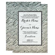 Glam black white faux glitter animal print Wedding Card - glitter glamour brilliance sparkle design idea diy elegant