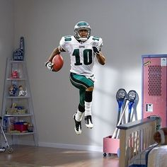 Fathead NFL Philadelphia Eagles DeSean Jackson Wall Graphic by Fathead. Save 11 Off!. $80.54. Peel and place to any smooth, flat surface. No loss of adhesion and no damage to your walls. Dazzle fans and friends with a hi-def, 3-D image of your favorite team on your wall. Thick high-grade vinyl resists tears, rips and fading. Fathead NFL Philadelphia Eagles DeSean Jackson Wall Graphic