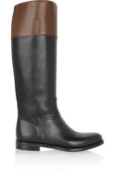 Martina two-tone leather riding boots #shoes #covetme #church's