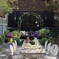 Jonathan Adler Interior decorating home design decorating before and after room design house design Outdoor Rooms, Outdoor Dining, Outdoor Gardens, Dining Area, Outdoor Seating, Outdoor Privacy, Dining Table, Outdoor Lounge, Small Gardens