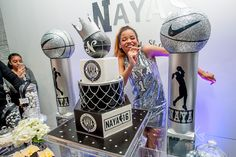 Event Planning and Design: Coordinated To Perfection Photography: Kesha Lambert Photo Booth: Freckled Dragon Entertainment Cake Design: BCakeNY This Basketball themed Sweet 16 planned and designed …