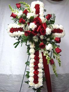 The Floral World of Flower Arrangements Casket Flowers, Grave Flowers, Cemetery Flowers, Church Flowers, Funeral Flowers, Arrangements Funéraires, Funeral Floral Arrangements, Large Flower Arrangements, Funeral Caskets