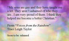 Her gay sons make her a better Christian.