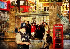 Iconic London Print by Judi Saunders