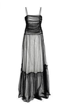 Sheer overlay maxi dress  by VERONIQUE BRANQUINHO for Preorder on Moda Operandi