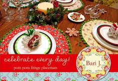 Country Lane Round Pom-Pom Placemats: Guest Tutorial by Bari J. Ackerman