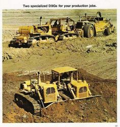 rollerman1: Linked Caterpillar D9G's with one blade & operator