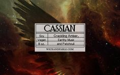 Cassian - A Court of Mist and Fury Inspired Scented Soy Candle
