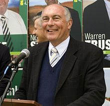 The Hon Warren Truss MP, Leader of the National Party of Australia.