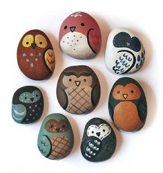 DIY Painted Owl Rocks