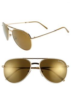 Burberry 57mm Folding Aviator Sunglasses available at #Nordstrom