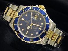 Rolex Submariner Steel Gold Blue