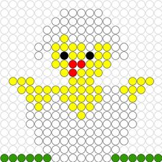 Chick in egg shell Pearler Bead Patterns, Perler Patterns, Perler Beads, Cross Stitch Designs, Cross Stitch Patterns, Beading For Kids, Iron Beads, Melting Beads, Beaded Cross Stitch