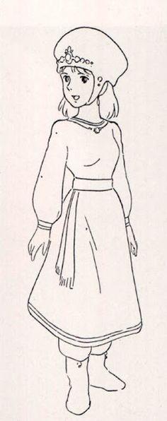 Living Lines Library: 風の谷のナウシカ / Nausicaä of the Valley of the Wind - Character Design- Definitely cool! Studio Ghibli Art, Studio Ghibli Movies, Hayao Miyazaki, 1984 Characters, Good Animated Movies, Cool Animations, Illustrations, Totoro, Manga