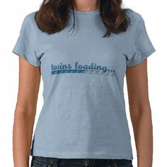 Twin Boys Loading Pregnancy Shirt available for baby girls, boys, and twins by #wrkdesigns
