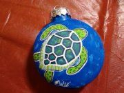Xmas gift for... idk just somebody haha or possibly for myself  Sea Turtle Ornament. $9.95, via Etsy.