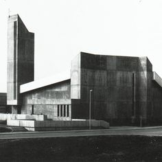 Church and Community Center (1967-70) in Schwaikheim, Germany, by Franz Brümmendorf ""