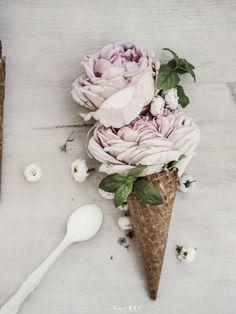 Ice cream cone of flowers!