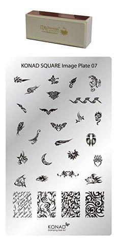 Bundle – 2 Items: Konad Nail Art Square Image Plate #07 + Itay Beauty Nail Buffer for Shine Nails Review