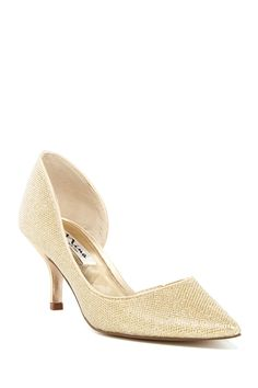 Nina Shoes | Brydie Pointed Toe Pump | Nordstrom Rack Nina Shoes, Gold Pumps, Pointed Toe Pumps, Nordstrom Rack, Kitten Heels, Classic, Fashion, Derby, Moda