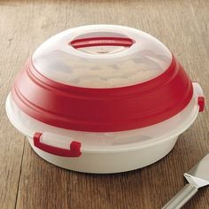 Progressive Collapsible Pie or Party Carrier  Preserve and transport two pies, multiple cupcakes, pastries or cookies.