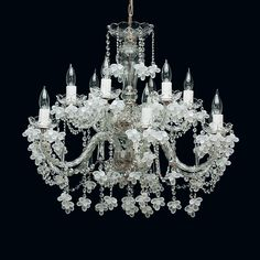 Tomia L 141/12/600 chrome Royal Family Flora Crystal 12-Light Chandelier at ATG Stores