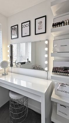 Makeup room inspiration Fashion posters for make up room decor Bedroom Decor For Teen Girls, Room Ideas Bedroom, Girl Bedroom Designs, Bedroom Ideas For Small Rooms, Ikea Bedroom Design, Modern Teen Bedrooms, Luxury Bedroom Design, Bedroom Furniture, Beauty Room Decor