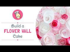 Build a Flower Wall Cake Wafer Paper, Paper Roses, Flower Wall, Beautiful Cakes, Cookie Decorating, Treats, Flowers, Sweet Like Candy, Goodies