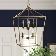 Birch Lane: Farmhouse & Traditional Furniture - Made to Last Entryway Chandelier, Farmhouse Chandelier, Lantern Chandelier, Lantern Pendant, Chandelier Lighting, Entry Lighting, House Lighting, Lighting Ideas, Lantern Light Fixture