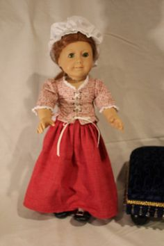 American Girl Felicity's Lesson's Outfit by PrairieWindGirls, $35.00