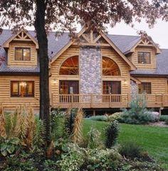 Fireside - Log Homes, Cabins and Log Home Floor Plans - Wisconsin Log Homes