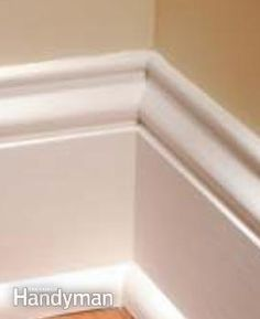 A tight-fitting inside corner on base molding