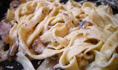 Low fat creamy mushroom pasta #recipe