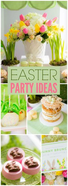 What a gorgeous pastel Easter bunny brunch! See more party ideas at CatchMyParty.com!