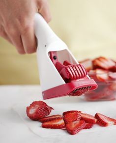 Amazing strawberry slicer.