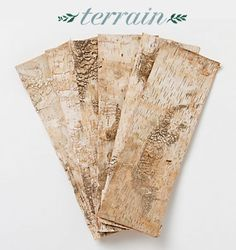Birch Bark from @Terrain - Vrap them around votives or vases for easy DIY rustic decor!