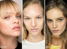 Spring/ Summer 2017 Makeup Trends: Strobing. Skip the sharp contour and go for an ethereal dewy look using highlight only.