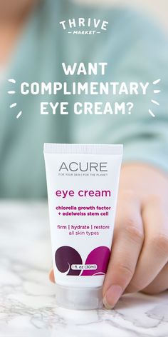 [Ad] Get your FREE Acure Organics eye cream at Thrive Market while supplies last!