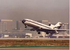 727 take off at LAX