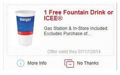 Meijer: FREE Fountain Drink or ICEE Digital Coupon - FreebiesForACause.com