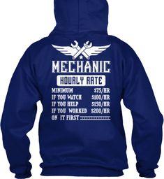 Mechanic Hourly Rate Hoodie