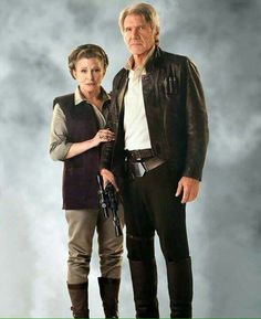 MOM AND DAD. Han Solo and General Leia Star Wars Force Awakens