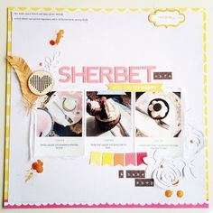 #papercraft #scrapbook #layout.   Sherbet by tracey0502 at @studio_calico