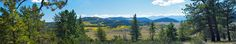 """https://flic.kr/p/8Ftthr   Big Land - Autumn in Colorado Panorama   One day we rode our horses to the top of this ridge line where got a panoramic view of Aspen Ridge, the scrub-grass meadow area and the distant mountains.  <b>Notes:</b> Five image panorama with PT GUI.  View it original size for 7100 x 1350 image size.  <b>Blog <a href=""""http://oxherdingisfun.com"""" rel=""""nofollow"""">Oxherding is Fun</a> ~~ on <a href=""""http://twitter.com/Oxherder_Arts"""" rel=""""nofollow"""">Twitter</a> ~~ <a…"""