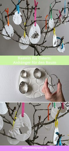 schaeresteipapier: Decorate the Easter tree with homemade charms from . - schaeresteipapier: Decorate the Easter tree with homemade charms from . Easter Gift, Easter Crafts, Happy Easter, Easter Bunny, Easter Food, Mosaic Diy, Mosaic Crafts, Easter Tree Decorations, Spring Decorations