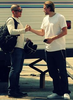 Theo Rossi and Charlie Hunnam