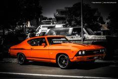 Pro-Touring Chevelle by yenko side stripe AmericanMuscle.deviantart.com on @deviantART orange and black